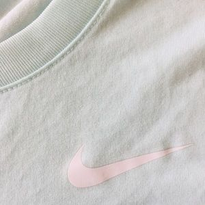nike dry fit tee shirt, baby blue